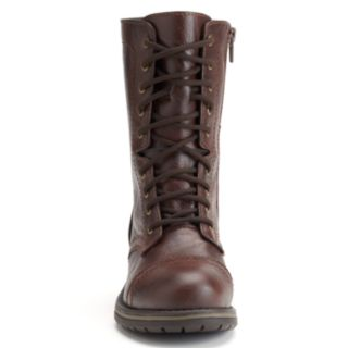 SO® Women's Mid-Calf Lace-Up Boots
