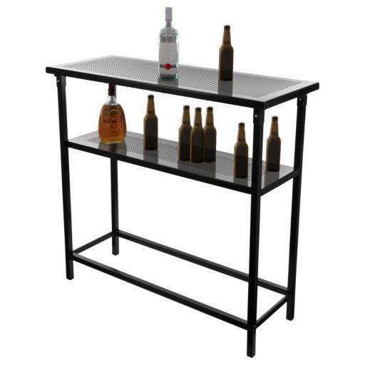 Detroit Pistons Hardwood Classics 2-Shelf Portable Bar with Case