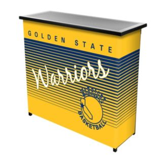 Golden State Warriors Hardwood Classics 2-Shelf Portable Bar with Case