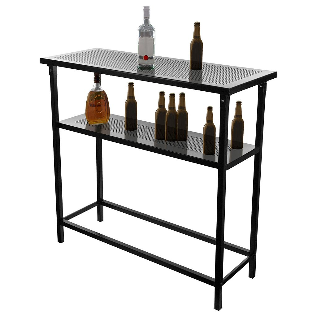 Golden State Warriors Hardwood Classics 2-Shelf Portable Bar with Case