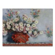 Trademark Fine Art ''Chrysanthemums, 1878'' Canvas Wall Art by Claude Monet