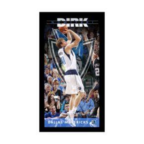 "Steiner Sports Dallas Mavericks Dirk Nowitzki 10"" x 20"" Player Profile Wall Art"