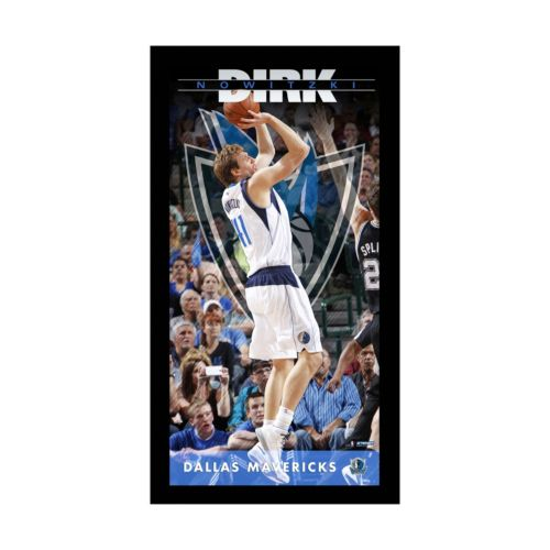 Steiner Sports Dallas Mavericks Dirk Nowitzki 10 x 20 Player Profile Wall Art