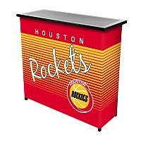 Houston Rockets Hardwood Classics 2-Shelf Portable Bar with Case
