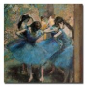 Trademark Fine Art ''Dancers in Blue 1890'' Canvas Wall Art by Edgar Degas