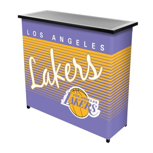 Los Angeles Lakers Hardwood Classics 2-Shelf Portable Bar with Case