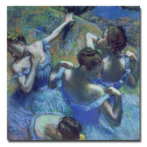 Trademark Fine Art ''Blue Dancers'' Canvas Wall Art by Edgar Degas