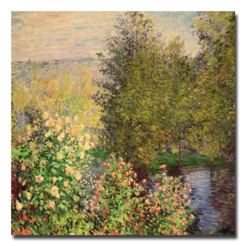 "Trademark Fine Art ""Corner of the Garden at Montgeron"" Canvas Wall Art by Claude Monet"