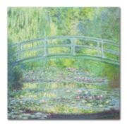 Trademark Fine Art ''Waterlily Pond The Bridge II'' Canvas Wall Art by Claude Monet