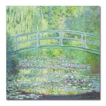 Trademark Fine Art ''Waterlily Pond The Bridge II'' Canvas Wall Art by Claude Monet
