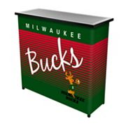 Milwaukee Bucks Hardwood Classics 2-Shelf Portable Bar with Case