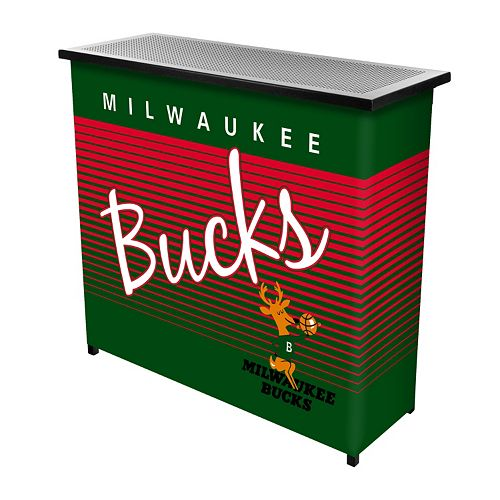 Milwaukee Bucks Hardwood Classics 2-Shelf Portable Bar with Case