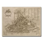Trademark Fine Art ''Map of Padua'' Canvas Wall Art