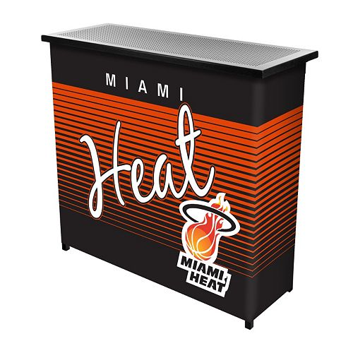 Miami Heat Hardwood Classics 2-Shelf Portable Bar with Case
