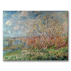 Trademark Fine Art ''Spring 1880'' Canvas Wall Art by Claude Monet