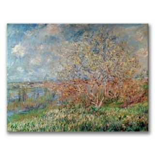 Trademark Fine Art ''Spring 1880'' Canvas Wall Art by Claude Monet