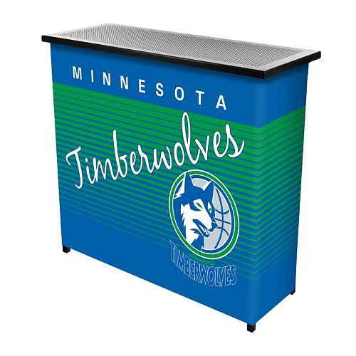 Minnesota Timberwolves Hardwood Classics 2-Shelf Portable Bar with Case