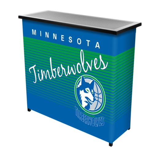 Minnesota Timberwolves Hardwood Classics 2-Shelf Portable Bar with Case