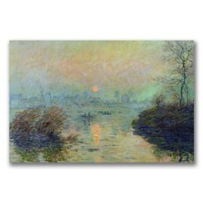 Trademark Fine Art ''Sun Setting over the Seine'' Canvas Wall Art by Claude Monet
