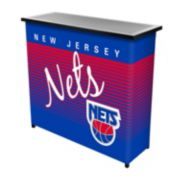 New Jersey Nets Hardwood Classics 2-Shelf Portable Bar with Case