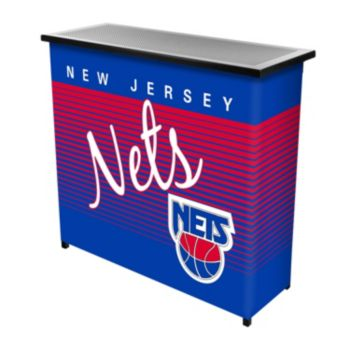 New Jersey Nets Hardwood Classics 2-Shelf Portable Bar with Case