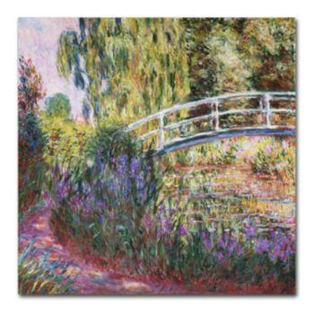 Trademark Fine Art ''The Japanese Bridge IV'' Canvas Wall Art by Claude Monet
