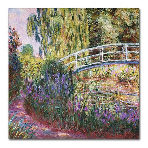 Trademark Fine Art ''The Japanese Bridge IV'' Canvas Wall Art by Claude Monet