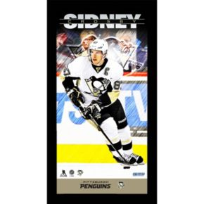 """Steiner Sports Pittsburgh Penguins Sidney Crosby 10"""" x 20"""" Player Profile Wall Art"""
