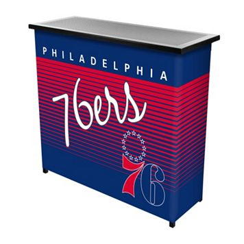 Philadelphia 76ers Hardwood Classics 2-Shelf Portable Bar with Case