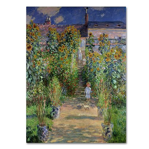Trademark Fine Art ''The Artist's Garden at Vetheuil'' Canvas Wall Art by Claude Monet