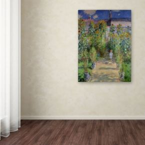 Trademark Fine Art ''The Artist's Garden at Vetheuil'' Canvas Wall Art by Claude Monet