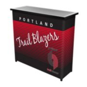 Portland Trail Blazers Hardwood Classics 2-Shelf Portable Bar with Case