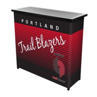 Portland Trail Blazers Hardwood Classics 2-Shelf Portable Bar with Case