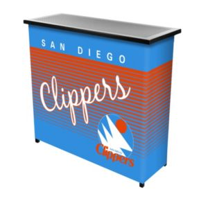 San Diego Clippers Hardwood Classics 2-Shelf Portable Bar with Case