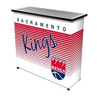 Sacramento Kings Hardwood Classics 2-Shelf Portable Bar with Case