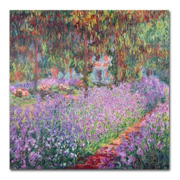 Trademark Fine Art ''The Artist's Garden at Giverny'' Canvas Wall Art by Claude Monet
