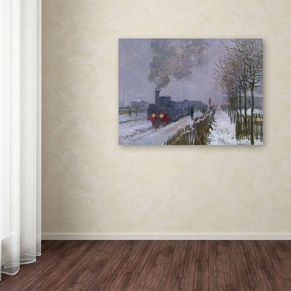 Trademark Fine Art ''Train in the Snow'' Canvas Wall Art by Claude Monet