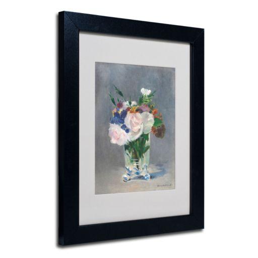 Trademark Fine Art ''Flowers In a Crystal Vase'' Framed Canvas Wall Art