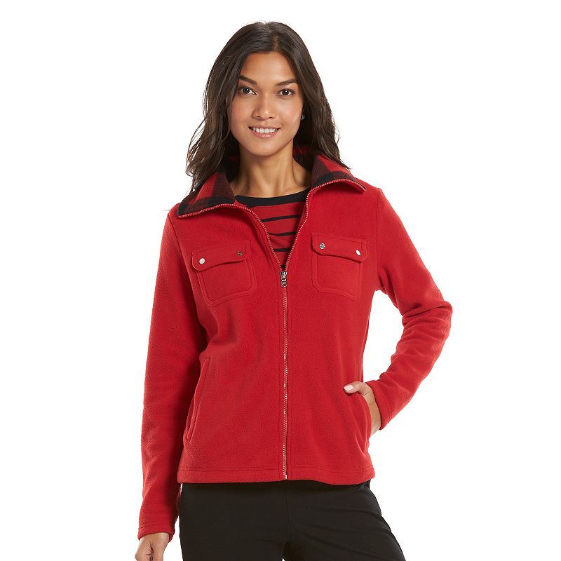 Women's Chaps Polar Fleece Jacket