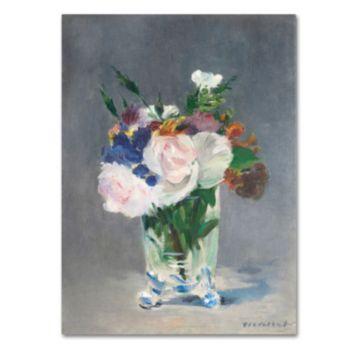Trademark Fine Art ''Flowers In a Crystal Vase'' Canvas Wall Art
