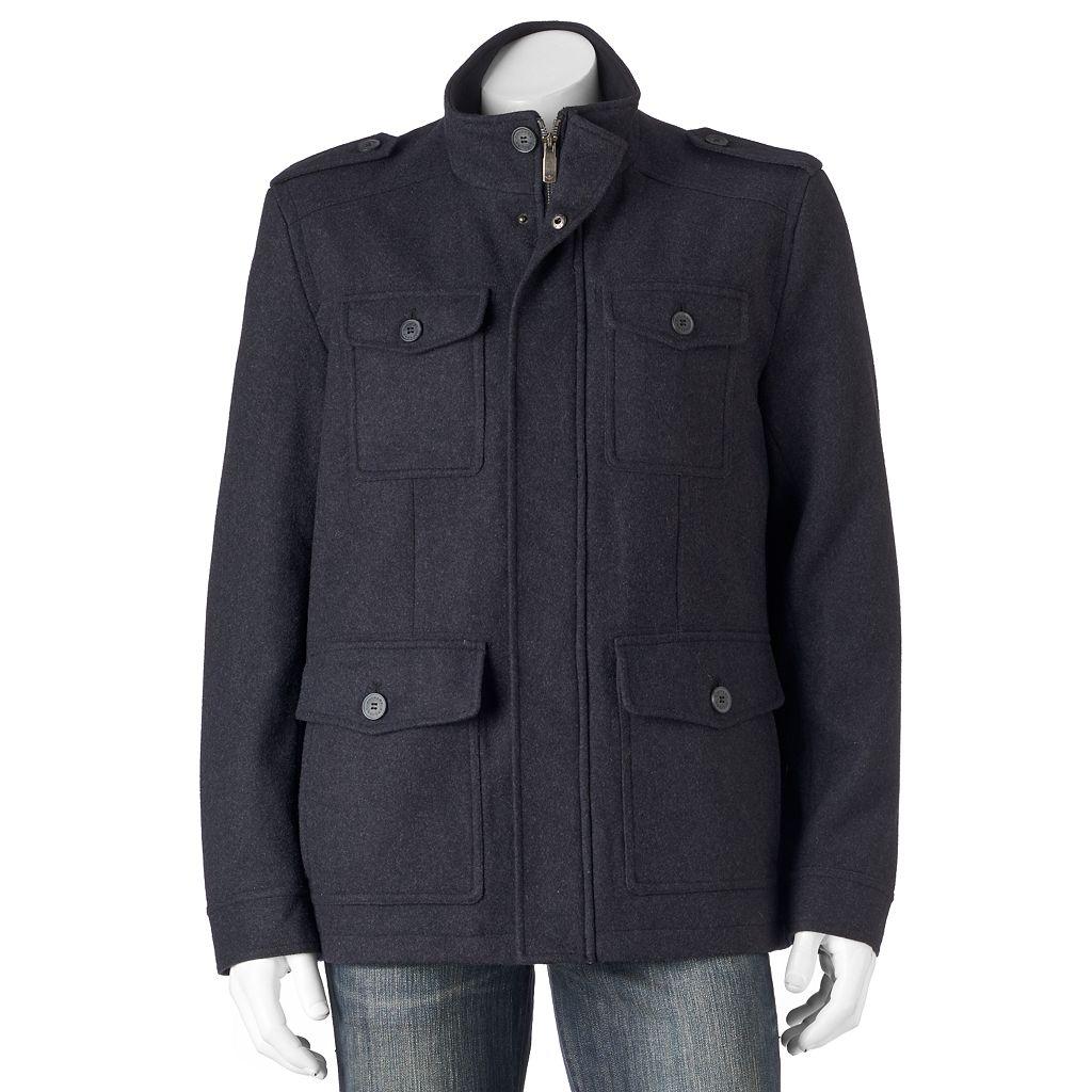 Men's Dockers Wool-Blend 4-Pocket Military Jacket