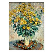 Trademark Fine Art ''Jerusalem Artichoke Flowers'' Canvas Wall Art by Claude Monet
