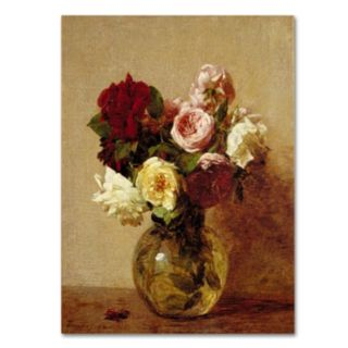 Trademark Fine Art ''Roses 1884'' Canvas Wall Art