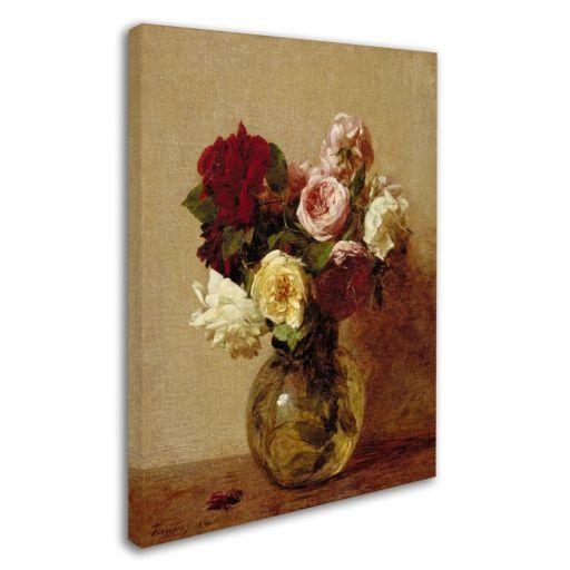 Trademark Fine Art ''Roses 1884'' Canvas Wall Art