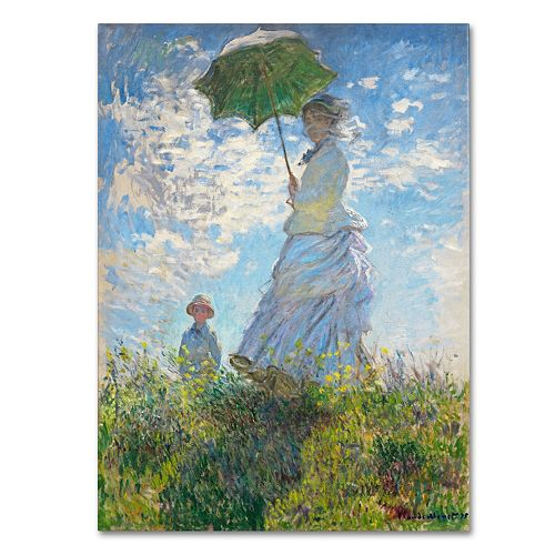 Trademark Fine Art ''Woman With a Parasol'' Canvas Wall Art by Claude Monet
