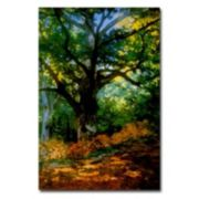 Trademark Fine Art ''Bodmer Oak Fontainebleau Forest'' Canvas Wall Art by Claude Monet