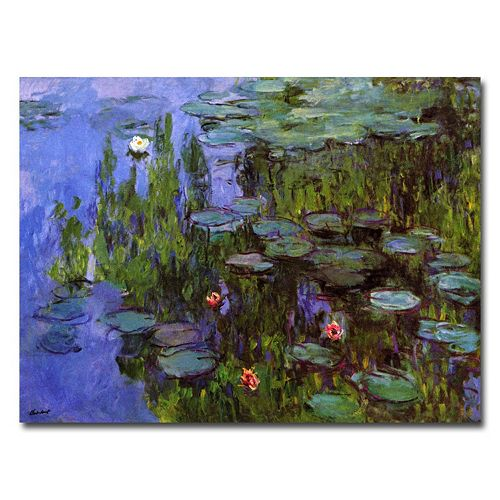 Trademark Fine Art ''Sea Roses'' Canvas Wall Art by Claude Monet