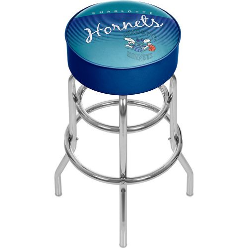Charlotte Hornets Hardwood Classics Padded Swivel Bar Stool
