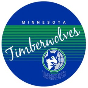 Minnesota Timberwolves Hardwood Classics Padded Swivel Bar Stool