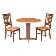 3 pc Two-Tone Dining Set